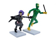 Hit Girl & Kick-Ass (Ochre Jelly) Tags: comics movie lego superhero planb kickass nicolascage chlo moretz hitgirl