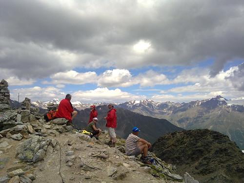 Blick von der Vermoispitze Richtung Norden auf den Alpenhauptkamm