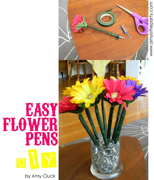easy flower pens