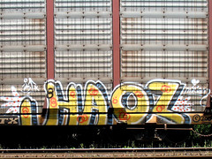 IMG_2625 v2 (collations) Tags: toronto ontario graffiti freights haos autoracks benching fr8s autocars