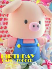 Piggy birthday cake topper (charles fukuyama) Tags: piggy pig gift cakedecoration claydoll birthdaycaketopper