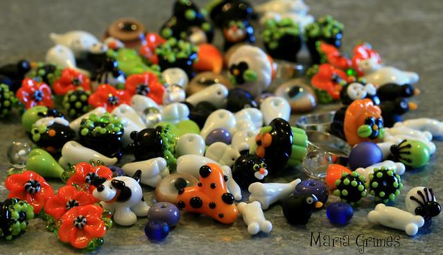 Halloween Lampwork Beads