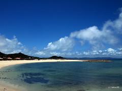 Azama Sun Sun Beach - Okinawa, Japan (_takau99) Tags: ocean trip travel blue sea summer sky cloud beach water june topv111 japan pen sand olympus okinawa whitesand 2011 azama nanjo takau99 penlite epl1