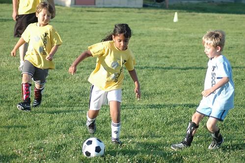 Niranjana plays soccer July 20, 2011
