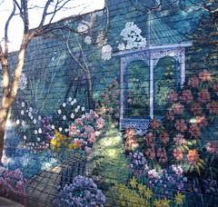 Garden mural in Leura Mall (Miss Tiggywinkle) Tags: gardens mural bluemountains leura unusualthingsinaustraliancountrytowns