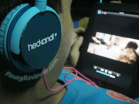 My bro enjoyed using my Pure Kandi headphones while watching videos on our iPad - PinayReviewer.com