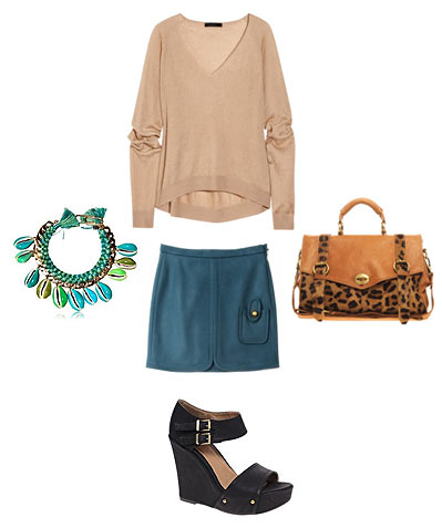 Teal and Leopard Print