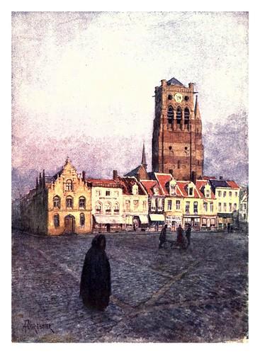 014-Furnes torre de San Nicolas-Belgium 1908- Amédée Forestier