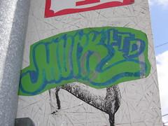 MURKY MURK (]L ][ /A\ ]M[) Tags: streetart oregon portland graffiti sticker glue illegal slap