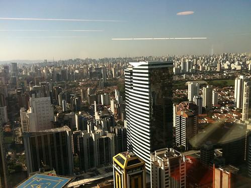 São Paulo, vista do 36º andar do WTC