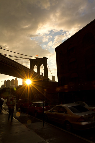 Sunset by the Brooklyn Bridge