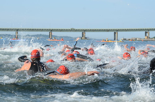 Start of the Save The Bay Swim - Newport, Rhode Island