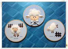 Quadro (Doces Mimos - Arte em feltro) Tags: quadro feltro animais ovelha bastidor