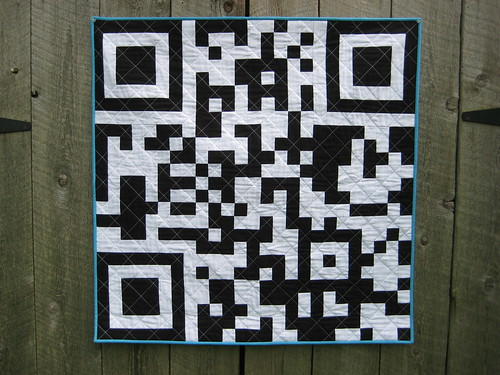 QR Code Quilt by Poppyprint