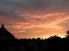 Soleil D'or... (Mirage008) Tags: blue trees light sunset sky sunlight black building church window clouds buildings grey golden evening skies mirage mystical breeze 008