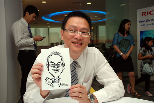 Caricature live sketching for Ricoh Roadshow - 18