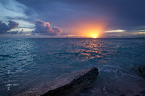 amazingly beautiful sunset in Barbuda