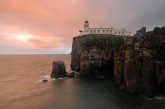 Pink skies at Neist Point Lighthouse, Skye (iancowe) Tags: pink sunset red lighthouse skye point twilight glendale little stevenson minch gloaming neist northernlighthouseboard nlb neistpoint neistpointlighthouse lighthousetrek wbnawgbsct