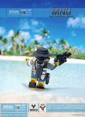 MNU diving suit commercial - having a break (Shobrick) Tags: beach water lego fig district 9 diving equipment commercial tropical minifig cry custom far mnu shobrick