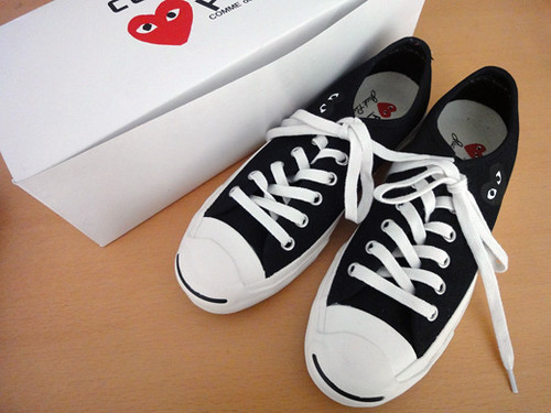 Converse Jack Purcell X COMME des GARCONS PLAY · jackpursell x comme des  garcon 1 466b095c5