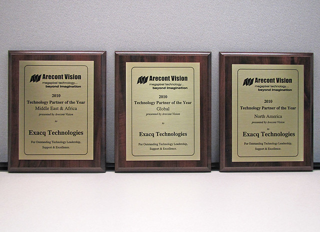 Exacq awarded Arecont's Technology Partner of the Year