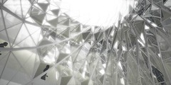 AO - view from inside atrium (Undisclosable) Tags: glass japan architecture tokyo design arquitectura rosemary vegetation roppongi residence architects atrium diseo 2009 juniper condominium rendering sustainability arkitektur greenroof graft architekten portecochere arquitectos midrise disear verticalgarden bryanflaig casbee alejandralillo livinghill