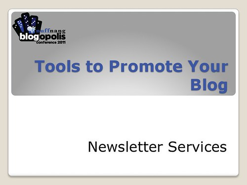 Blogging Tools - Newsletter Services