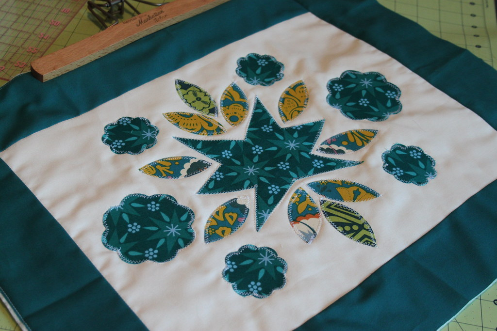 Teal Quilt Block -- Finished!