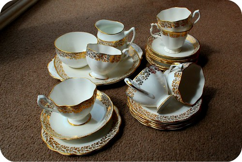 White and Gold Tea Set