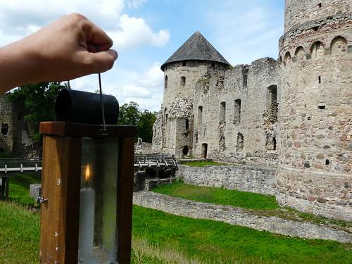 En el castillo de Cesis