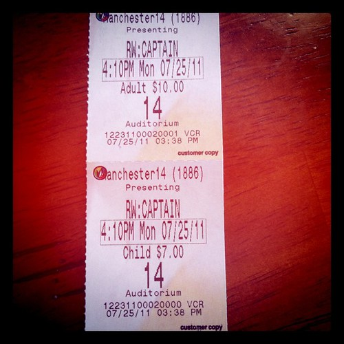 Monday: Matt & Spencer caught the matinee show of Captain America