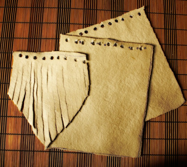 making a leather medicine pouch