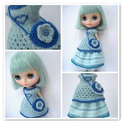 Granny Dress, Posy bag and crochet edge skirt