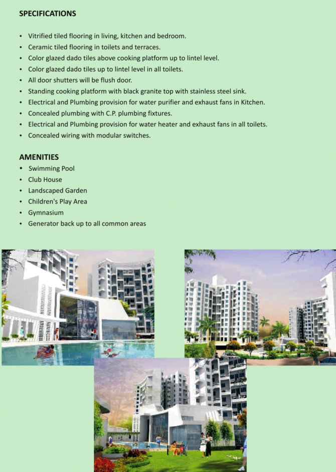 gloria-grace-bavdhan-specification-amenities