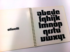 Walter Ballmer, page from book of Olivetti marks, 1971 (Herb Lubalin Study Center) Tags: archive lubalincenter