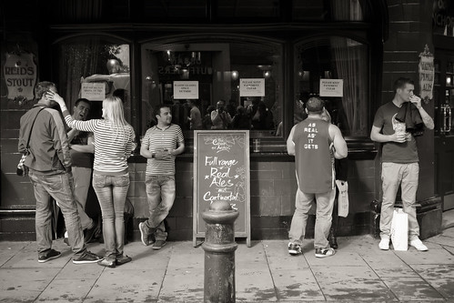 587/1000 - Outside a Pub by Mark Carline