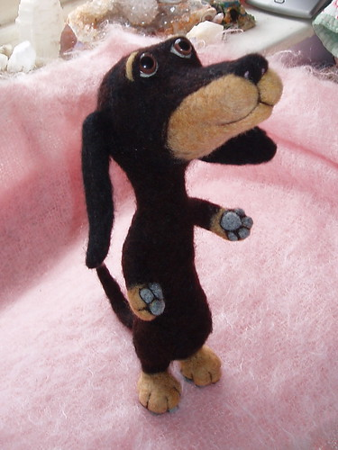 Dachshund  Needle Felted by Megarryspikey