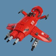 Yaj Zero - Sky Fighter (Fredoichi) Tags: plane lego space military micro shooter shootemup skyfi shmup microscale dieselpunk skyfighter fredoichi