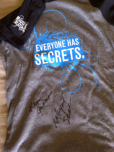 Beautiful Creatures t-shirt, autographed