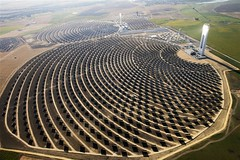 GP02G6P (IgorPodgorny) Tags: outdoors spain day towers aerialview renewableenergy solarenergy heliostat climatecampaigntitle keywordcheckedimagegpi solarpowerstations