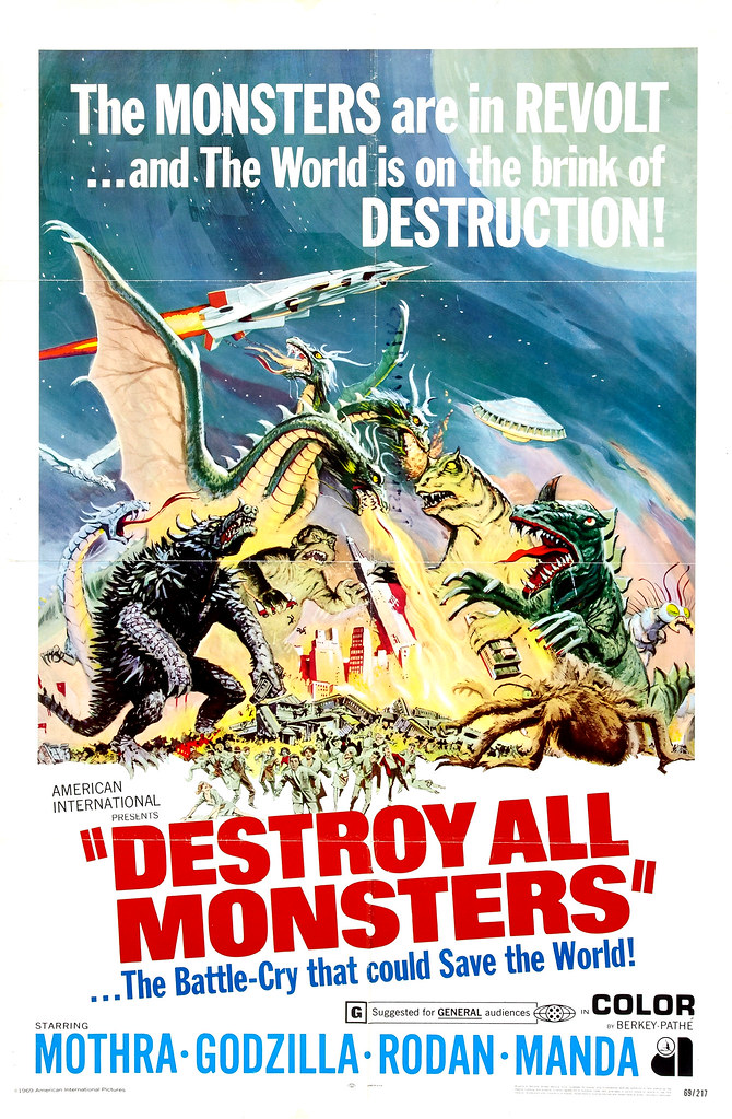 Reynold Brown - Destroy All Monsters (American International, 1969