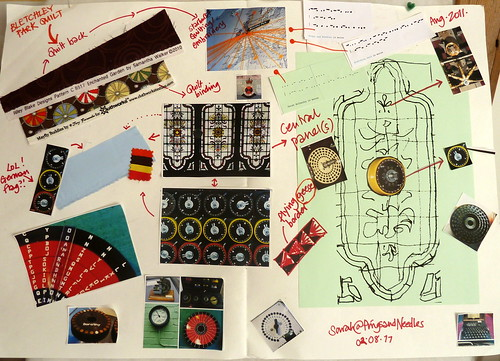 Bletchley Park Quilt - Concept Board by Sarah @ pingsandneedles