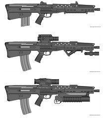 AR - 030811 rifle (timberfox15) Tags: gun rifle scifi