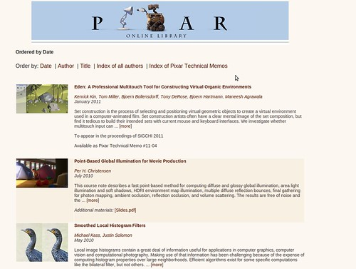 Pixar: Online Library