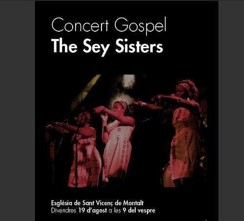 Concert de gospel: The Sey Sisters a l'església @ 19 agost 21 h #festamajor by bibliotecalamuntala