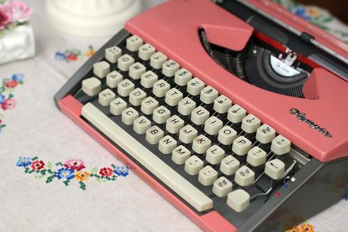Purdy Pink Typewriter