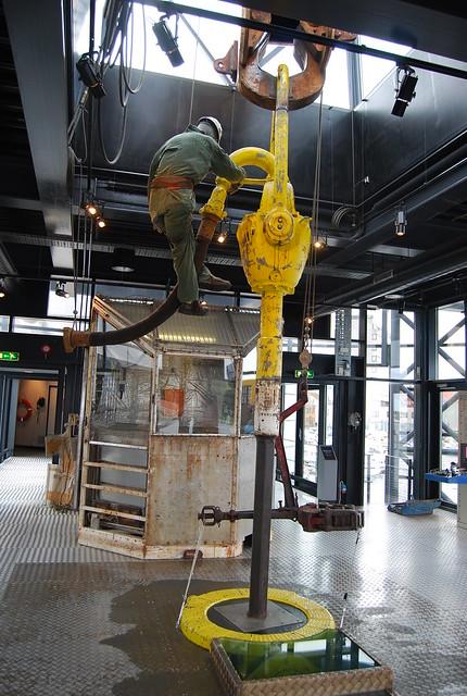 Simulación de extracción en el museo del petróleo de Stavanger