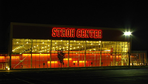 The Stroh Center at night by Davey..