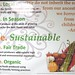 Sustainable Food Poster
