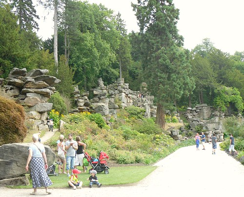 Rock formations,Chatsworth House